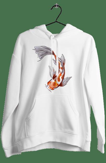 Жіноче худі з принтом Рибка Для Неї. Парні, риба. BlackLine