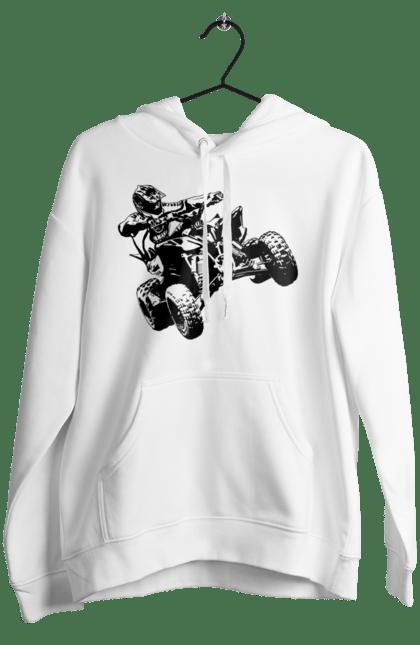 Жіноче худі з принтом Людина На Квадроциклі Чорний BlackLine
