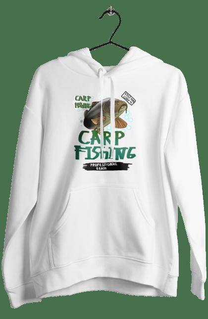 Жіноче худі з принтом Carp Fishing. Fisherman, карпфішінг, короп, риба, рибалка, хобі. CustomPrint.market