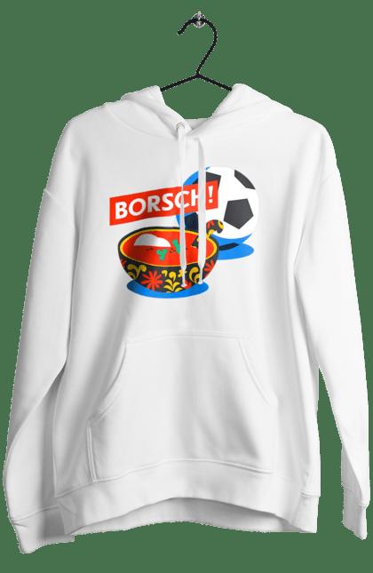Жіноче худі з принтом Борщ І Футбол CustomPrint.market