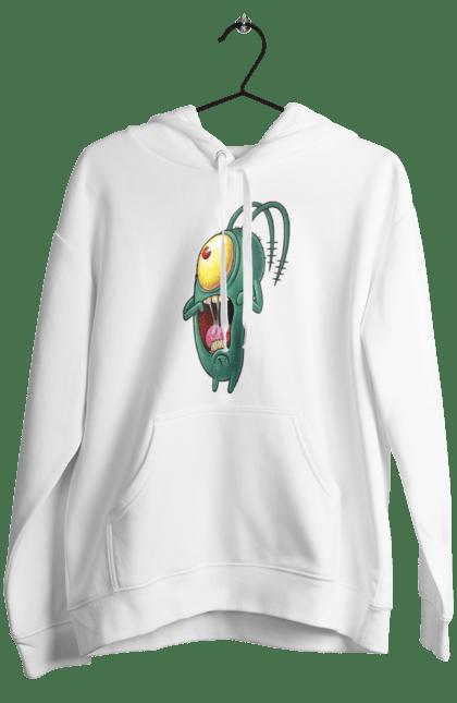 Жіноче худі з принтом Переляканий Планктон