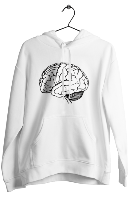 Жіноче худі з принтом Мозок. Мозок, парні. BlackLine