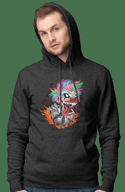 Чоловіче худі з принтом Клоун Джокер CustomPrint.market