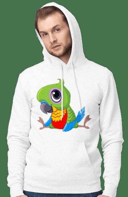 Чоловіче худі з принтом Папужка