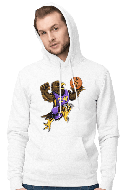 Чоловіче худі з принтом Орел Баскетболіст. Баскетболіст, орел, спорт, спортсмен. BlackLine