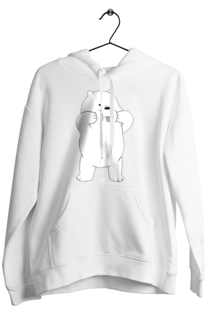 Чоловіче худі з принтом Ведмідь Показує Язика. Ведмідь, мова. CustomPrint.market