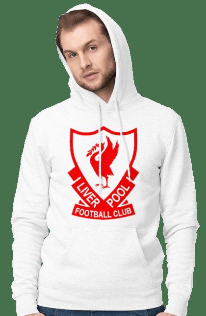 Чоловіче худі з принтом Ліверпуль. L.f.c., футбол. BlackLine
