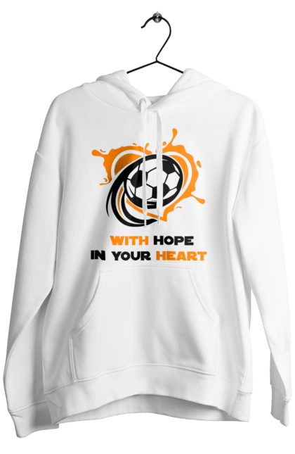 Чоловіче худі з принтом With hope in your heart BlackLine