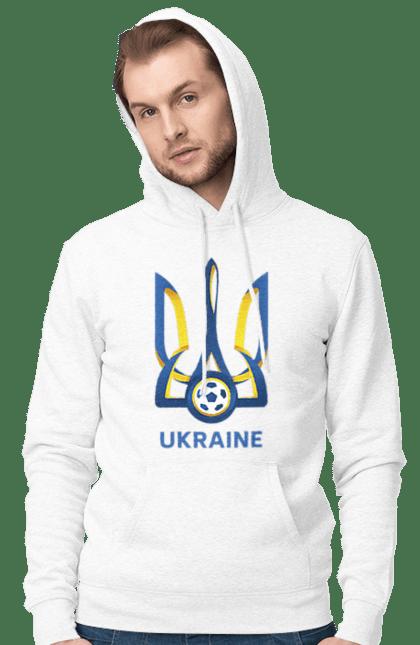 Чоловіче худі з принтом Футбол Герб України 2020 BlackLine