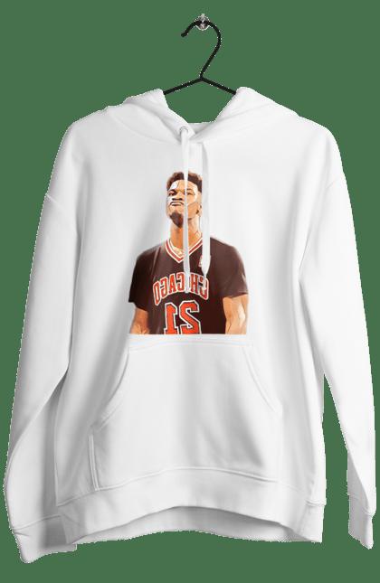 Чоловіче худі з принтом Баскетболіст Джерсі. Баскетбол, баскетболіст, джерсі, спорт. BlackLine