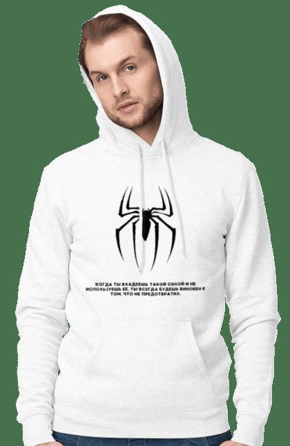 Чоловіче худі з принтом Людина павук. Дс, комікси, людина павук, марвел, павук. CustomPrint.market