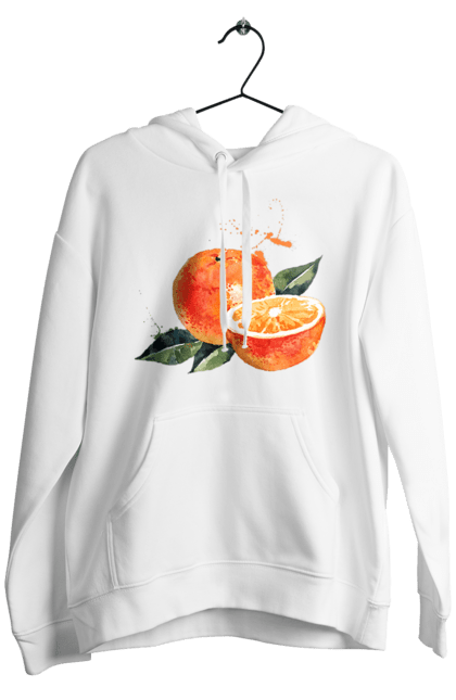 Чоловіче худі з принтом Помаранчевий Апельсин. Апельсин, помаранчевий апельсин, фрукт, цитрус. CustomPrint.market
