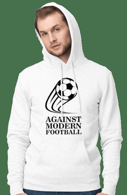 Чоловіче худі з принтом Модерн футбол. Футбол. BlackLine