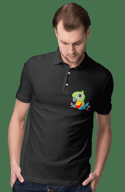 Поло чоловіче з принтом Папужка
