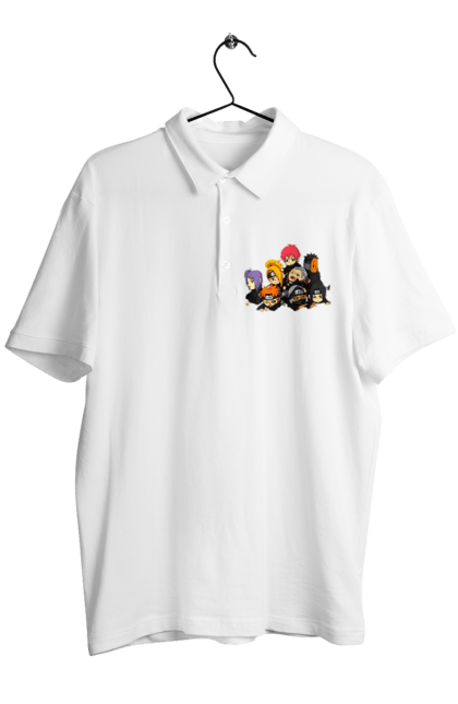 Поло чоловіче з принтом Акацуки Чиби 1.1. Акацуки, Аниме, итачи, подарок, саске. CustomPrint.market