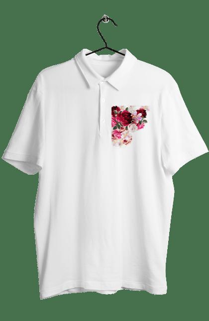 Поло чоловіче з принтом Збірник Квітів. Квіти, квітка, півонія, фіалка. CustomPrint.market