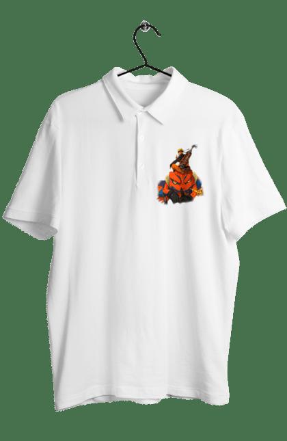 Поло чоловіче з принтом Наруто 2. Аниме, итачи, Какаши, подарок, саске. CustomPrint.market