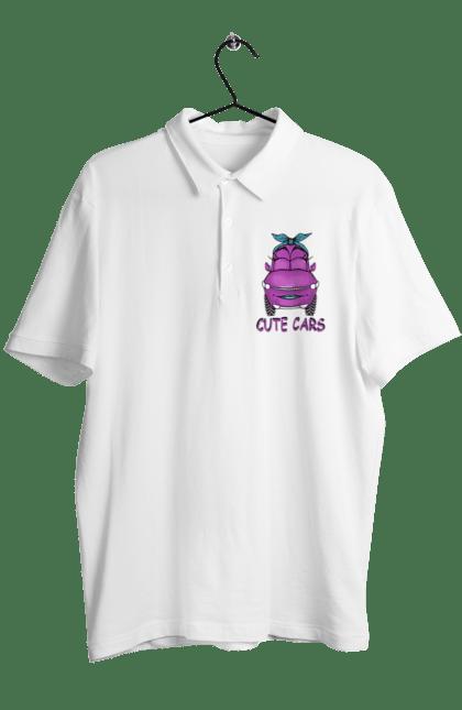 Поло чоловіче з принтом Милі Машинки Рожева Дівчинка. Дитячі, дівчинка, машини, милі, рожева, смішні. CustomPrint.market