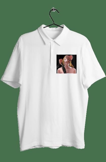 Поло чоловіче з принтом Дівчина У Полоні Чоловіка З Батогами. 18+, батіг, пристрасть, смоктати. BlackLine