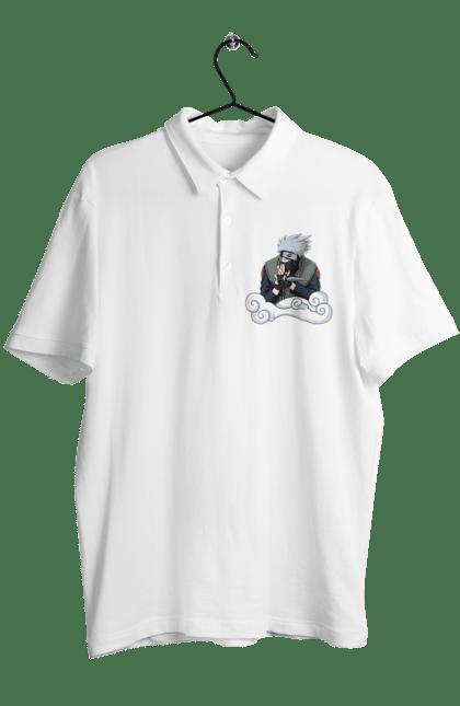 Поло чоловіче з принтом Какаши. Аниме, итачи, Какаши, подарок, саске. CustomPrint.market