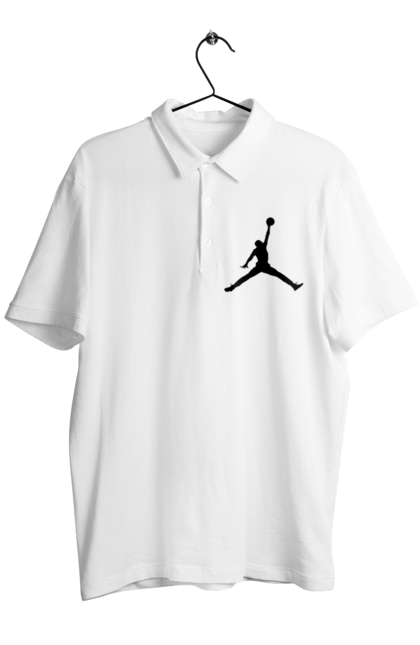 Поло чоловіче з принтом Jordan. Jordan, бренд, гра, джордан. CustomPrint.market