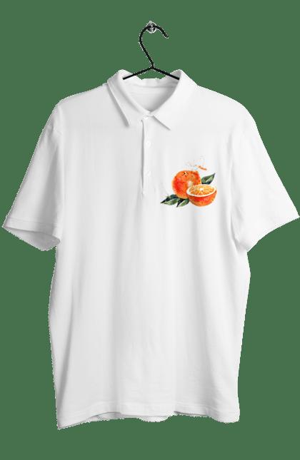 Поло чоловіче з принтом Помаранчевий Апельсин. Апельсин, помаранчевий апельсин, фрукт, цитрус. CustomPrint.market