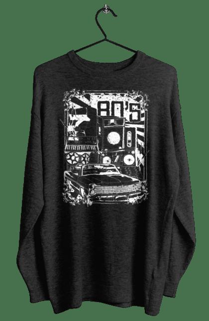 Світшот жіночий з принтом 80 Е, Машина І Музика. 80, 80ті, машина, музика. BlackLine
