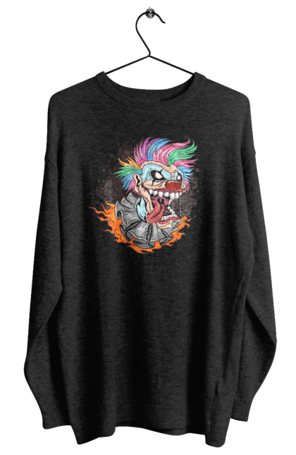 Світшот жіночий з принтом Клоун Джокер CustomPrint.market