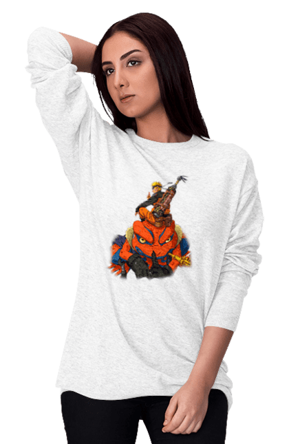 Світшот жіночий з принтом Наруто 2. Аниме, итачи, Какаши, подарок, саске. CustomPrint.market