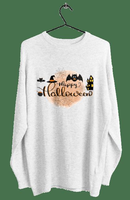 Світшот жіночий з принтом Веселого хеллоуина. Вечеринка, день всех святых, летучая мышь, праздник, хеллоуин. CustomPrint.market