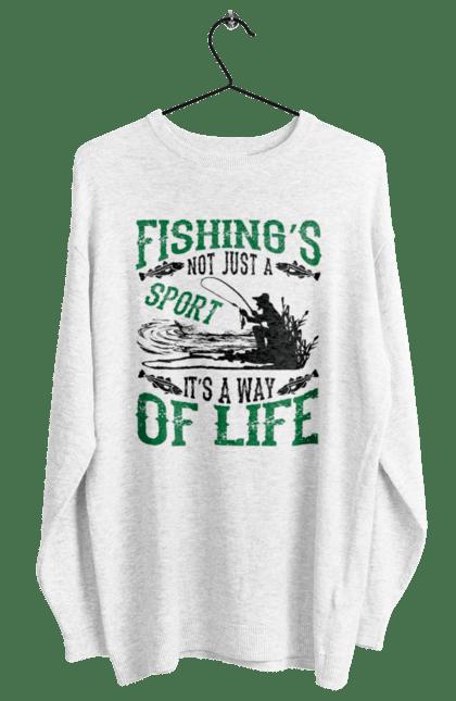 Світшот жіночий з принтом День Рибалки Риболовля Це Не Просто Спорт Це Спосіб Жіття CustomPrint.market