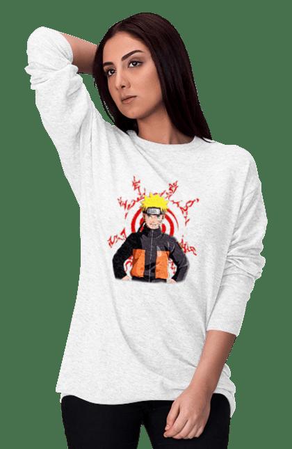 Світшот жіночий з принтом Наруто 3 CustomPrint.market
