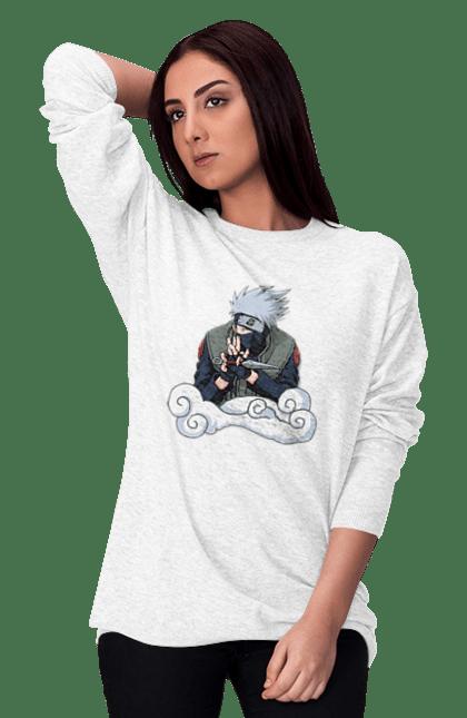 Світшот жіночий з принтом Какаши. Аниме, итачи, Какаши, подарок, саске. CustomPrint.market