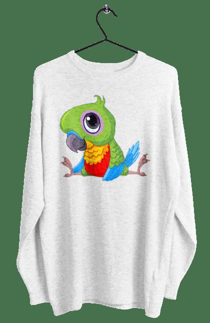 Світшот жіночий з принтом Папужка