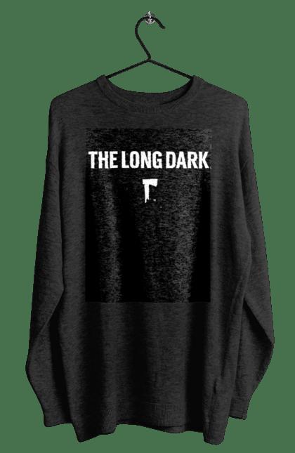 Світшот чоловічий з принтом The Long Dark. The Long Dark, атрибутика, игры, простое, черный цвет. CustomPrint.market