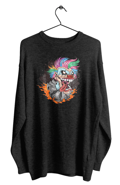 Світшот чоловічий з принтом Клоун Джокер CustomPrint.market