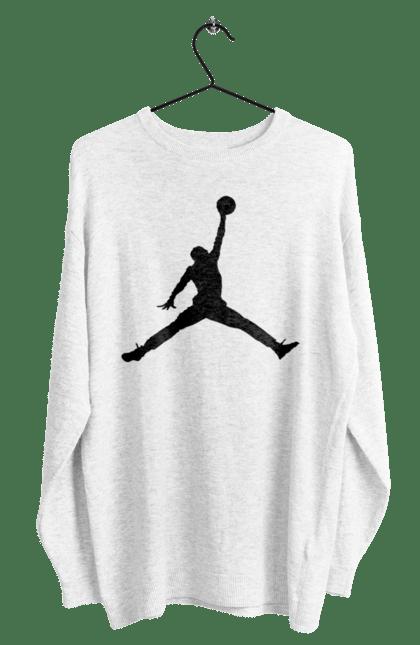 Світшот чоловічий з принтом Jordan. Jordan, бренд, гра, джордан. CustomPrint.market