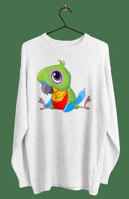 Світшот чоловічий з принтом Папужка
