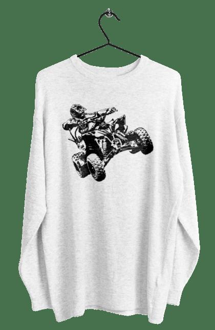 Світшот чоловічий з принтом Людина На Квадроциклі Чорний BlackLine