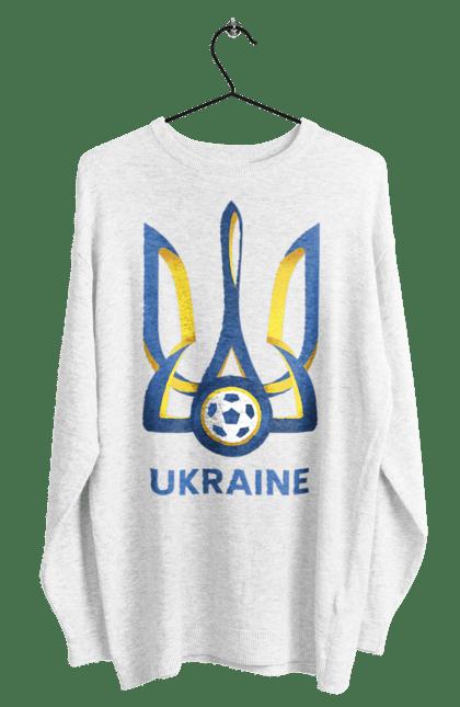 Світшот чоловічий з принтом Футбол Герб України 2020 BlackLine