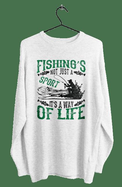 Світшот чоловічий з принтом День Рибалки Риболовля Це Не Просто Спорт Це Спосіб Жіття CustomPrint.market