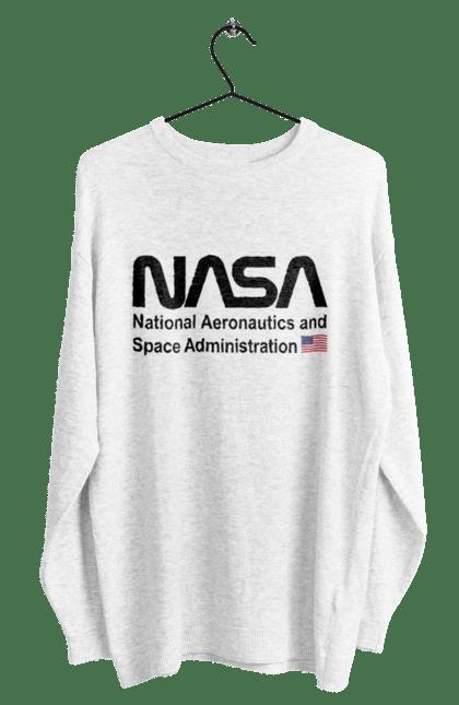 Світшот чоловічий з принтом Nasa Administration. Ілона маск, космос, на са, спейс ікс. CustomPrint.market