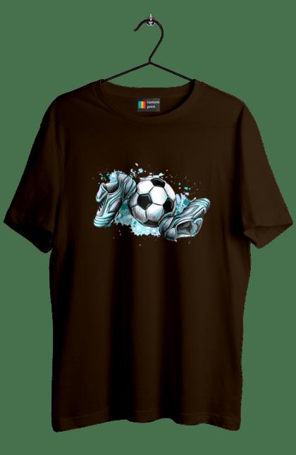 Футболка чоловіча з принтом Футбольний М'яч І Сороконожки. М'яч, сорокножкі, спорт, футбол. BlackLine