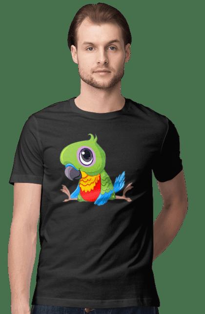 Футболка чоловіча з принтом Папужка