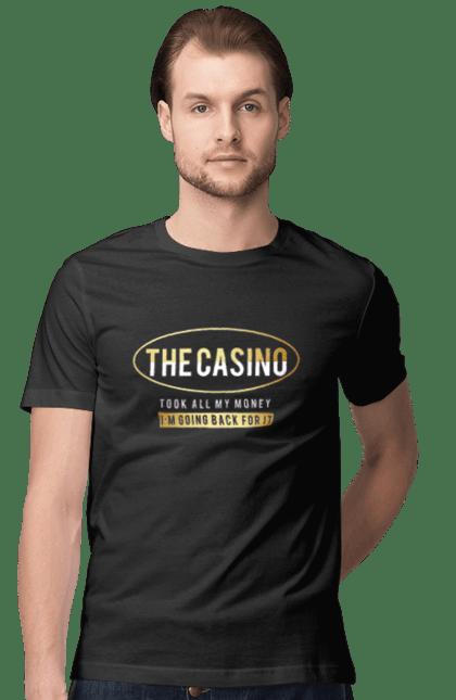 Футболка чоловіча з принтом The Casino. Гроші, казино, карти, покер. CustomPrint.market