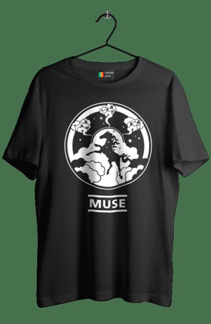 Футболка чоловіча з принтом Mусе коло. Група, музика, мусі, рок. CustomPrint.market