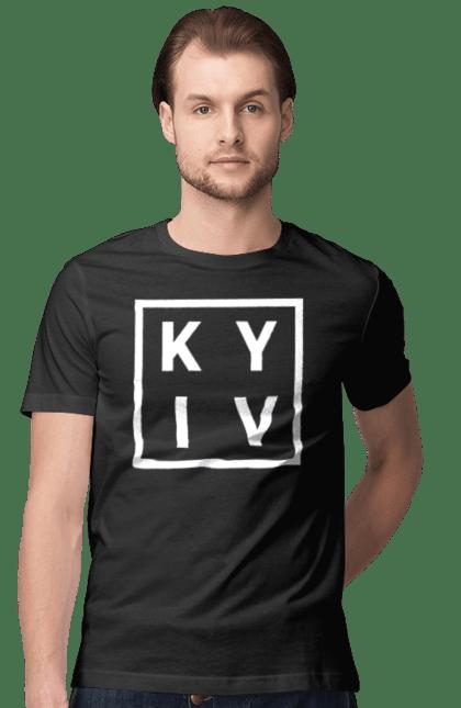 Футболка чоловіча з принтом Київ, Україна. Гооод, київ, місто, столиця.