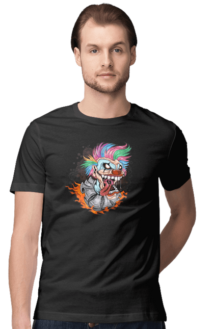 Футболка чоловіча з принтом Клоун Джокер CustomPrint.market