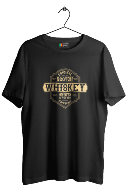 Футболка чоловіча з принтом Original Scotch. Вінтаж, віскі, ретро. BlackLine