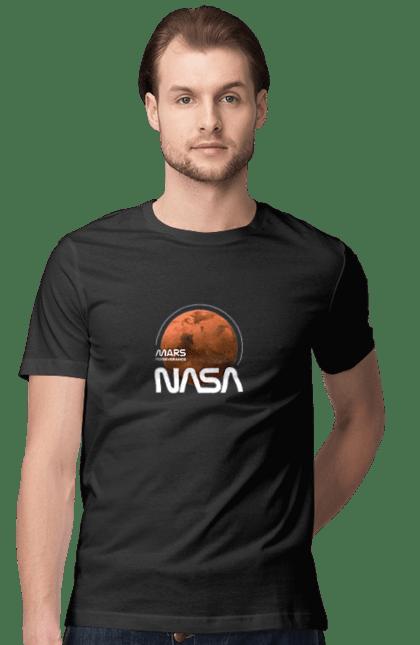 Футболка чоловіча з принтом Nasa Mars Perseverance. Nasa. CustomPrint.market